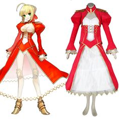 The Holy Grail War Saber 2ND Red Cosplay Costumes