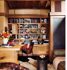 Masculine home office. Design by Ken Fulk. AD.