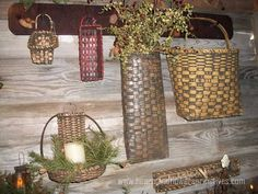 primitive home decorating ideas | Primitive Baskets Designed by Linda Searcy
