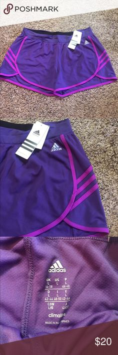 Adidas Shorts Purple adidas Shorts. Brand new with tags! Elastic waist with no liner. Super comfy! Adidas Shorts