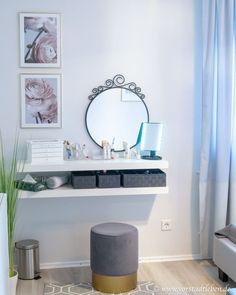 Small bedroom: Small room – great feeling of wellbeing – diy bathroom decor Decoracion Habitacion Ideas, Bedroom Ideas For Teen Girls, Small Rooms, Bedroom Small, Small Bathroom, Small Living, Home Furnishings, Bedroom Decor, Living Room