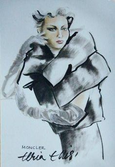 Fashion illustration inspiré par les collections de couture des grands créateurs de notre temps.