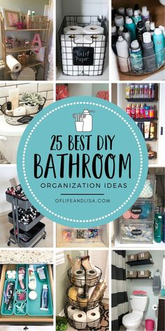Check out the best ways to keep your bathroom clutter-free and organized. Home Organization Hacks, Organizing Your Home, Bathroom Organization, Organized Bathroom, Organizing Ideas, Organizing Clutter, Organising, House Cleaning Tips, Cleaning Hacks