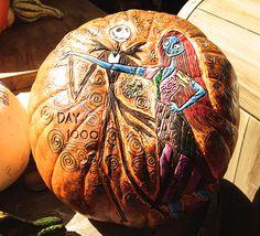 Could you carve this Jack Skellington inspired pumpkin?
