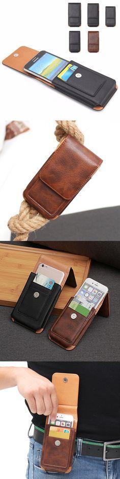 [$ 10.74]   Man Business PU Phone Wallet Card Bag Wallet Purse Dual-Use Waist Bag