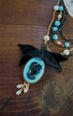 Necklace for Traveling Back in Time. $34.00, via Etsy.