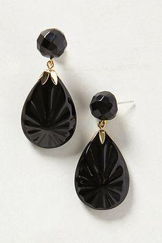 Gemstone Teardrop Earrings- great inspiration and I love the bead cap!