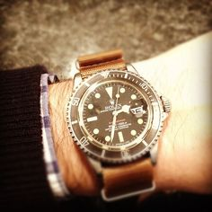 Rolex Submariner. Like the leather NATO.