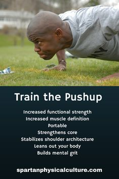 The pushup has been around forever and should be a cornerstone exercise in your training regimen. It increases functional strength, strengthens the core, stabilizes the shoulder and leans out your body. Learn how to train the pushup. Muscle Definition, How To Lean Out, Body Movement, Body Weight Training, Parkour, Calisthenics, Powerlifting, Physical Fitness, Push Up