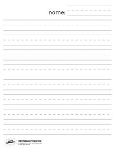 Printable Lined Writing Paper Kindergarten Lined Paper Loads Of Other  Samples   Email To Parents .  Handwriting Paper Printable Free