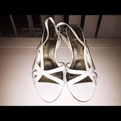 I just discovered this while shopping on Poshmark: White Strappy Heels . Check it out!  Size: 10