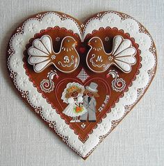 images of Czechoslovakia gingerbreads Heart Cookies, Cute Cookies, Cupcake Cookies, Sugar Cookies, Christmas Gingerbread, Gingerbread Cookies, Christmas Cookies, Valentine Cookies, Valentines