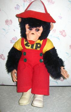 """This is Zippy the Monkey...I actually received one of these dolls when I was two years old.  I was an only child and lovingly referred to him as my """"baby brother"""". I took him everywhere and he was actually """"kidnapped"""" once by the neighbors...trying to be funny. Well, 38 years later, I still have him...he's the olny stuffed animal that survived my childhood."""