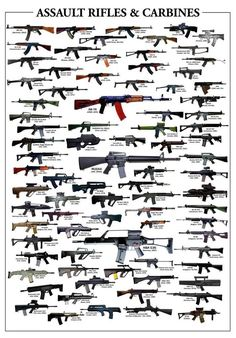 ASSAULT RIFLES & CARBINES GLOSSY POSTER PICTURE PHOTO guns weapons ak47 2010 in Home & Garden, Home Décor, Posters & Prints | eBay