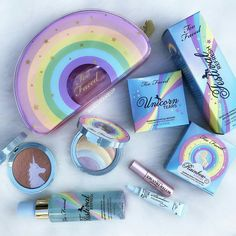 Too Faced sweet unicorn make up and beauty products Cute Makeup, Beauty Makeup, Drugstore Beauty, Makeup Set, Make Up Inspiration, How To Grow Eyebrows, Unicorn Makeup, Skin Tag, Clean Face