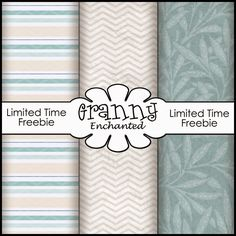 Free Digital Scrapbook Paper Pack (Expires 1/31/2015) ✿ Join 6,500 others. Follow the Free Digital Scrapbook board for daily freebies. Visit GrannyEnchanted.Com for thousands of digital scrapbook freebies. ✿