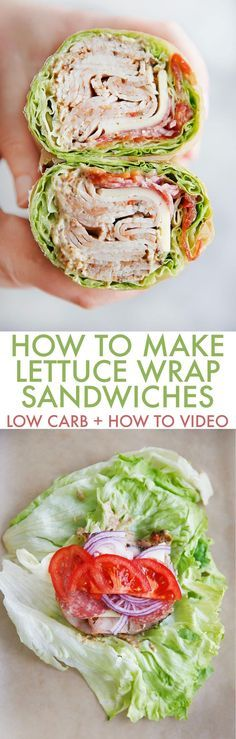 How to Make a Lettuce Wrap Sandwich (Low Carb) | Posted By: DebbieNet.com