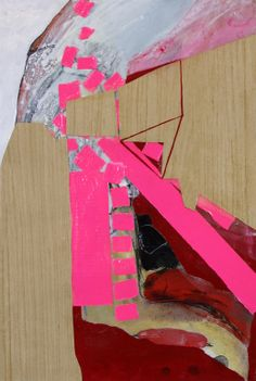 """Saatchi Online Artist: Pamela Staker; Paper, 2012, Mixed Media """"Abstract Study (triangle)"""""""