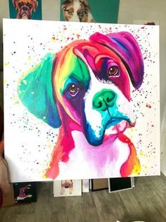 Cachorro Boxer - Dogs and Diana Boxer Breed, Boxer Dogs, Boxers, Brindle Boxer, Funny Boxer, Rottweiler Puppies, New Retro Wave, Arte Pop, Dog Art