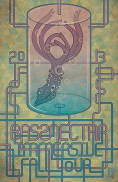 4eec0c7ae00 Bassnectar 2013 Immersive Fall Tour Squid Poster