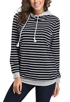 Fanshou Women Long Sleeve Striped Hoodie Side Zipper Hooded Sweatshirt Pullover Grey XL. FanShou Owns Its Own Trademarks.The Serial Number:86627868. The Package Contains FanShou Label and Tag. Made of high quality cotton. The material is soft and breathable,feels great against your skin. Casual fashion style hoodie sweatshirt; Funnel neck pullover hoodies with double; Black and white stripes design. Suit for teen students and women. The zipper is for decoration only, pls kindly check…