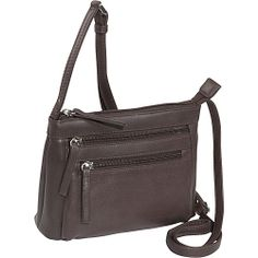 #Handbags, #LeatherHandbags - Derek Alexander Small Top Zip - Brown