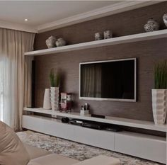 50 Modern and Classic Living Room Bookcases - Leather Decor .- 50 Modern and Classic Living Room Bookcases – Home Decor - Classic Living Room, Living Room Modern, Home Living Room, Apartment Living, Living Room Decor, Living Room Bookcase, Living Room Tv Unit Designs, Interior Design, Home Decor