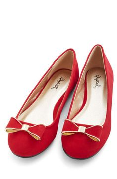 9ebe14ae465 Cute bow flats for the holidays! Red Ballet Flats