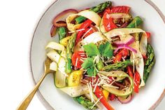 "Zucchini ""Pasta"" Primavera from No Excuses Detox"