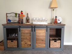 Custom Handmade Solid Wood Barn Door Console, Entertainment Center, TV Stand by CreeksideRustic on Etsy https://www.etsy.com/listing/574562299/custom-handmade-solid-wood-barn-door
