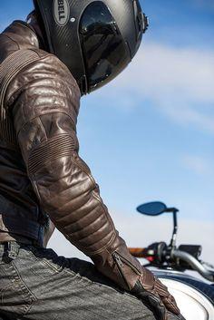 Jacket Leather BRISTOL Roland Sands Design Men's Tobacco