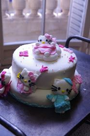 MY HOME-MADE : MON GATEAU HELLO KITTY EN PATE A SUCRE...