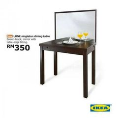 LOL-- IKEA Table For The Lonely Diner