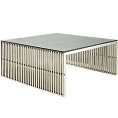Modway Furniture Modern Metal Glass Top Gridiron Coffee Table in Silver #design #homedesign #modern #modernfurniture #design4u #interiordesign #interiordesigner #furniture #furnituredesign #minimalism #minimal #minimalfurniture
