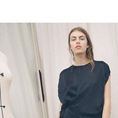 Hammered Satin Silk Ensemble ⚫️ Spring 2018 Villa C., Provence, France 1973 No 10 #femmemaison #parisfashionweek #love #paris #fashion #villacprovencefrance1973No10 #provence #France #newcollection #servitenviertel #wien #vienna