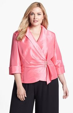 Alex Evenings Embellished Wrap Blouse Plus Size Available At Nordstrom