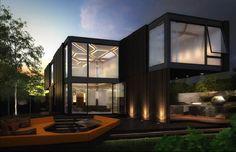 casa diseño modulos jardin