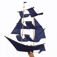 Hey, look what I found! Check out Sailing Ship Kite Navy on Bezar
