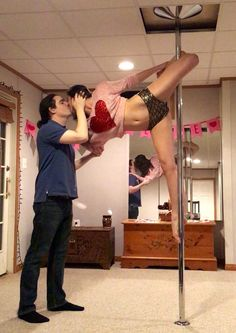 It's time to bring the love back into Valentine's Day ... pole dance fitness style, of course!