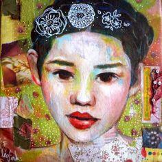 mixed media art on canvas- Leo-Vinh- 2014