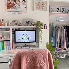 Army Room Decor, Study Room Decor, Cute Room Decor, Room Setup, Room Ideas Bedroom, Bedroom Decor, Pastel Room, Minimalist Room, Aesthetic Room Decor