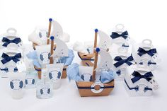 Kit Lembrancinhas Maternidade Navy Boat Theme, Nautical Party, Party Themes, Party Ideas, Favors, Baby Shower, Joy, Diy Crafts, Gifts