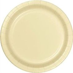"Amazon.com: Custom & Unique {9"" Inch} 24 Count Multi-Pack Set of Medium Size Round Circle Disposable Paper Plates w/ Single Colored Basic Classy Wedding Celebration Event Party ""Light Ivory Colored"": Kitchen & Dining"