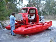 Pontoon truck? Truck pontoon? Cabtoon? Poncab? Pickup toon? Pon-up? Up-toon? Cab-pawn? Red-neck-pontoon? .... You name it... lol