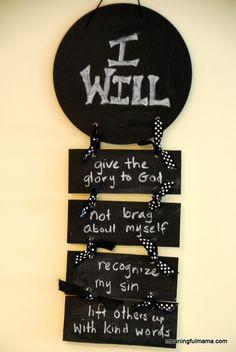 "Day #177 Humility ""I Will"" Statements - Character Development, Week #26 - Meaningfulmama.com"