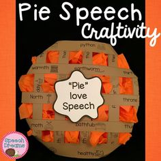 What a fun way to practice your speech articulation or language goals and make a yummy looking pie craft in therapy.  This is such a great way to keep those little hands busy and motivated while building fine motor skills!Photo instructions are included along with detailed instructions on creating the pie craftivity.