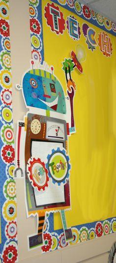 Robot Classroom Decor ~ Gears bulletin board borders classroom ideas pinterest