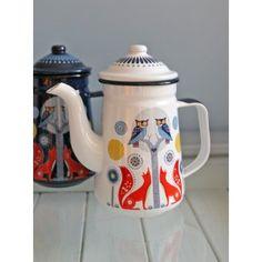 Folklore Coffee Pot White