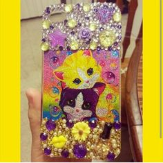 Lisa Frank bling phone case! Search for Paiges Infinite Bling on facebook, instagram, and etsy!