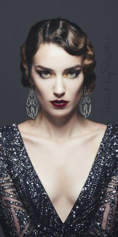 Alter Hollywood-Glamour - New Site Alter Hollywood-Glamour - - Old Hollywood glam Alter Hollywood-Glamour Retro Hairstyles, Wedding Hairstyles, Old Hollywood Hairstyles, Gatsby Hairstyles, 1920s Long Hair, Glamour Hollywoodien, Flapper Hair, Corte Y Color, Vintage Wedding Hair